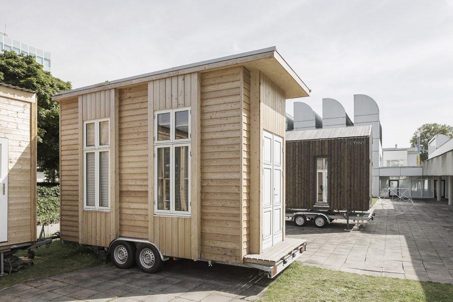 Mobiler Showroom der 100-Euro-Wohnung