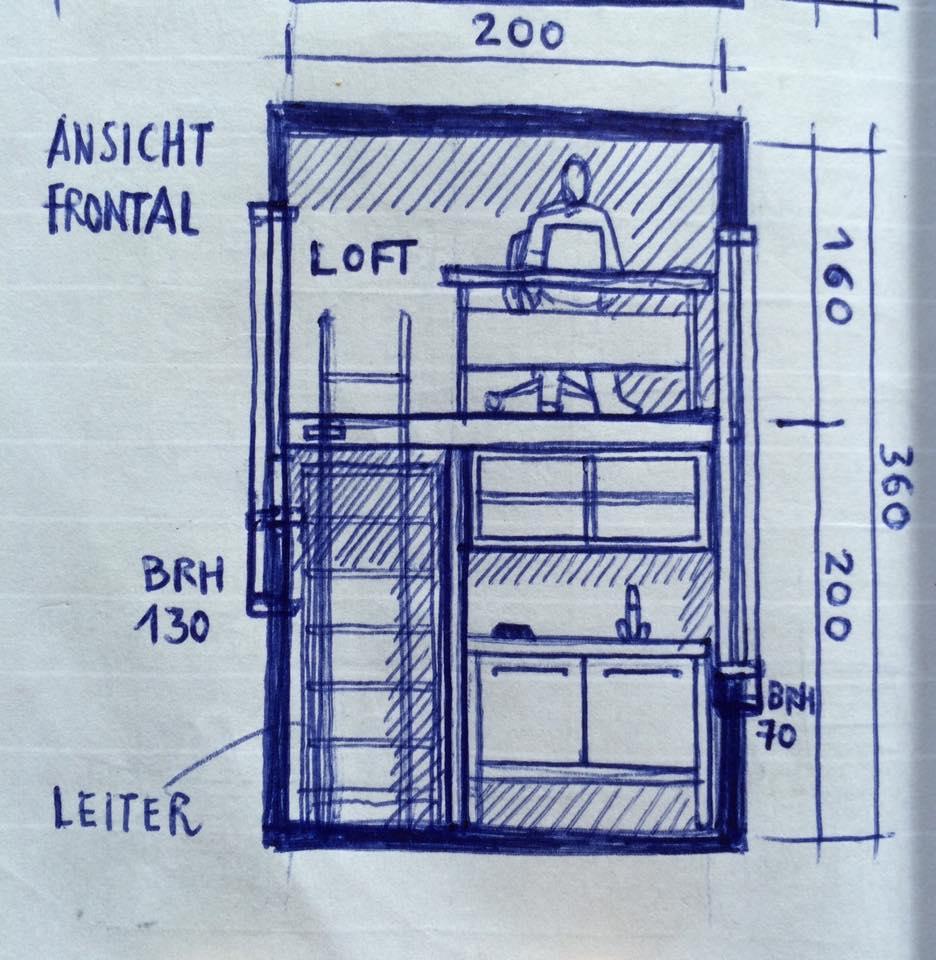100eurowohnung Cobeing House Bauhaus Campus Berlin Wendelstein Engineering Schematics 100 Euro Wohnung